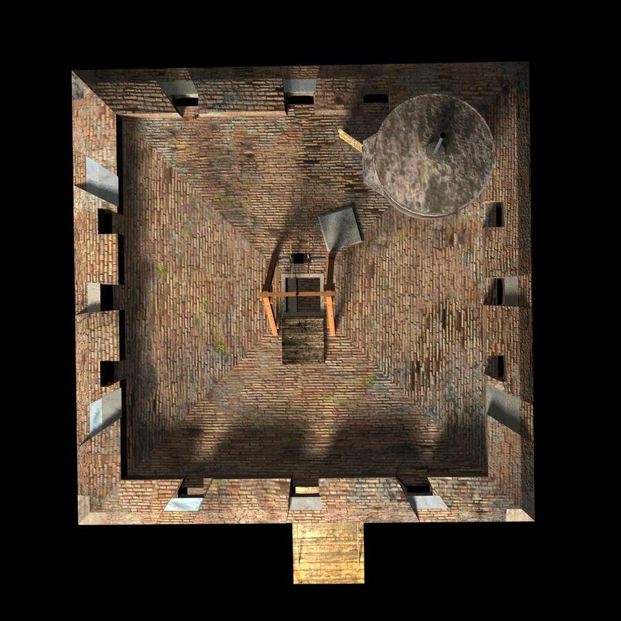 Średniowieczna wieża XV wieku royalty-free 3d model - Preview no. 8