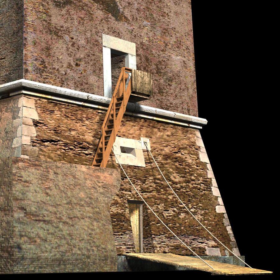 Średniowieczna wieża XV wieku royalty-free 3d model - Preview no. 14