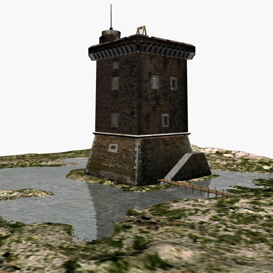 Średniowieczna wieża XV wieku royalty-free 3d model - Preview no. 22