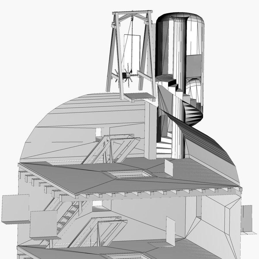 Średniowieczna wieża XV wieku royalty-free 3d model - Preview no. 32