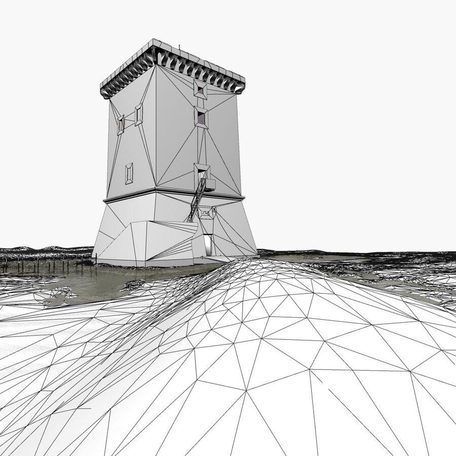 Średniowieczna wieża XV wieku royalty-free 3d model - Preview no. 28