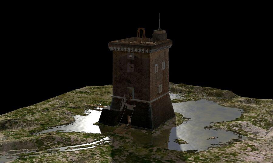 Średniowieczna wieża XV wieku royalty-free 3d model - Preview no. 26