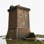 Średniowieczna wieża XV wieku 3d model