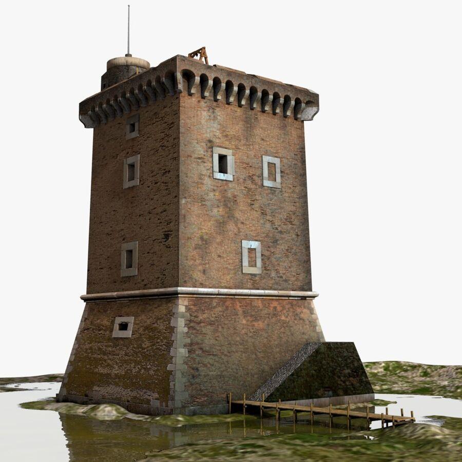 Średniowieczna wieża XV wieku royalty-free 3d model - Preview no. 1