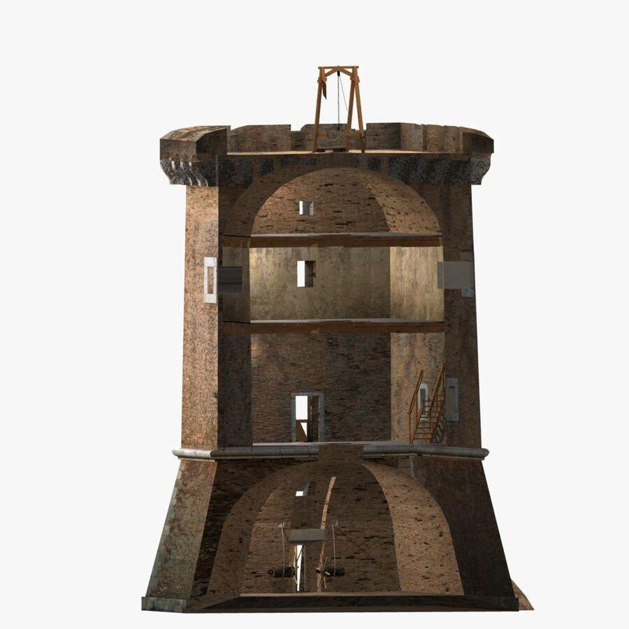 Średniowieczna wieża XV wieku royalty-free 3d model - Preview no. 11