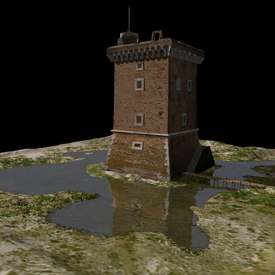 Średniowieczna wieża XV wieku royalty-free 3d model - Preview no. 21