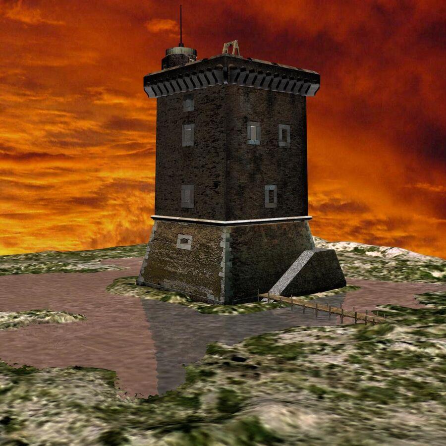 Średniowieczna wieża XV wieku royalty-free 3d model - Preview no. 5