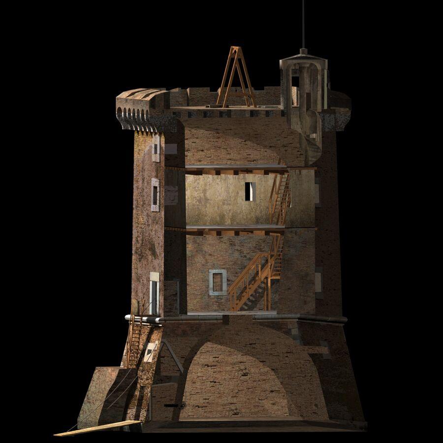Średniowieczna wieża XV wieku royalty-free 3d model - Preview no. 10