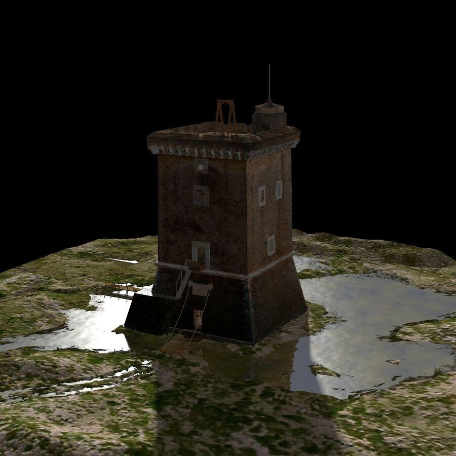 Średniowieczna wieża XV wieku royalty-free 3d model - Preview no. 25