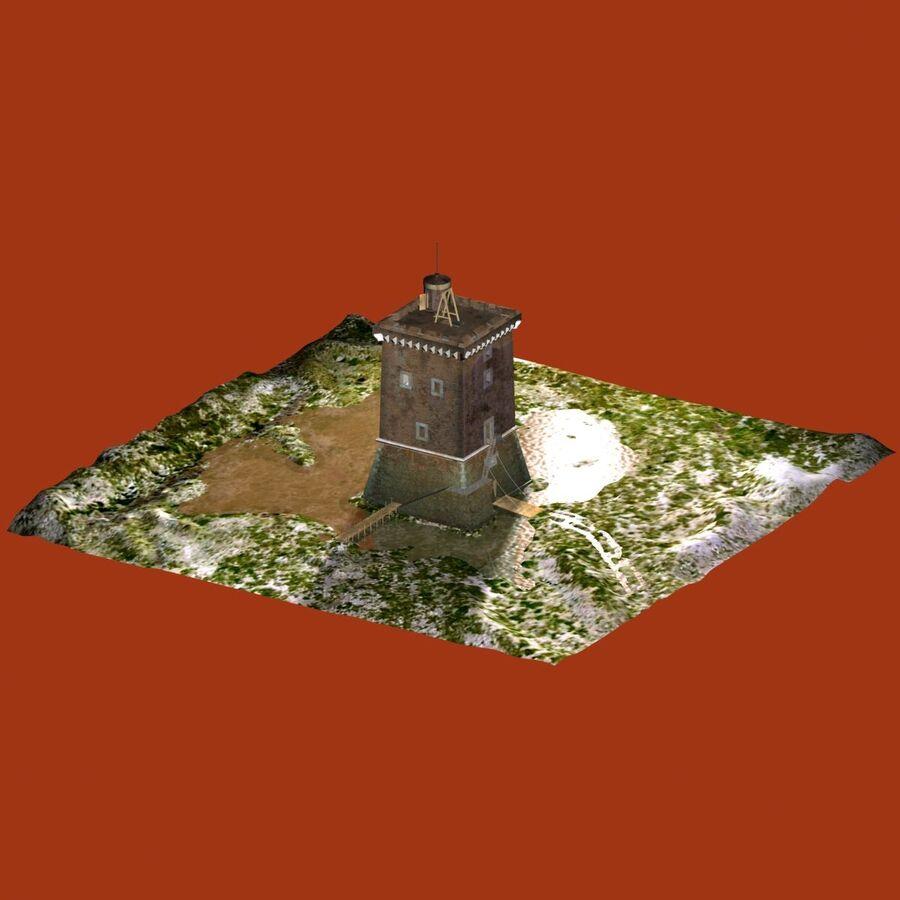 Średniowieczna wieża XV wieku royalty-free 3d model - Preview no. 4