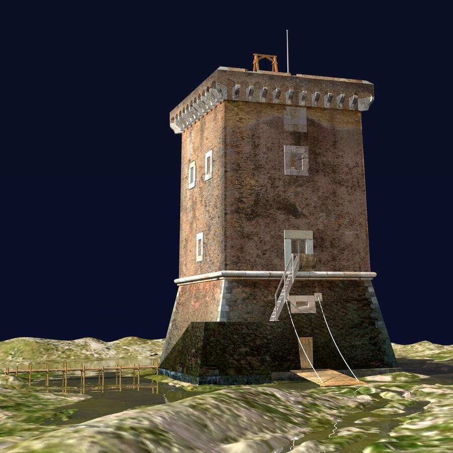 Średniowieczna wieża XV wieku royalty-free 3d model - Preview no. 6