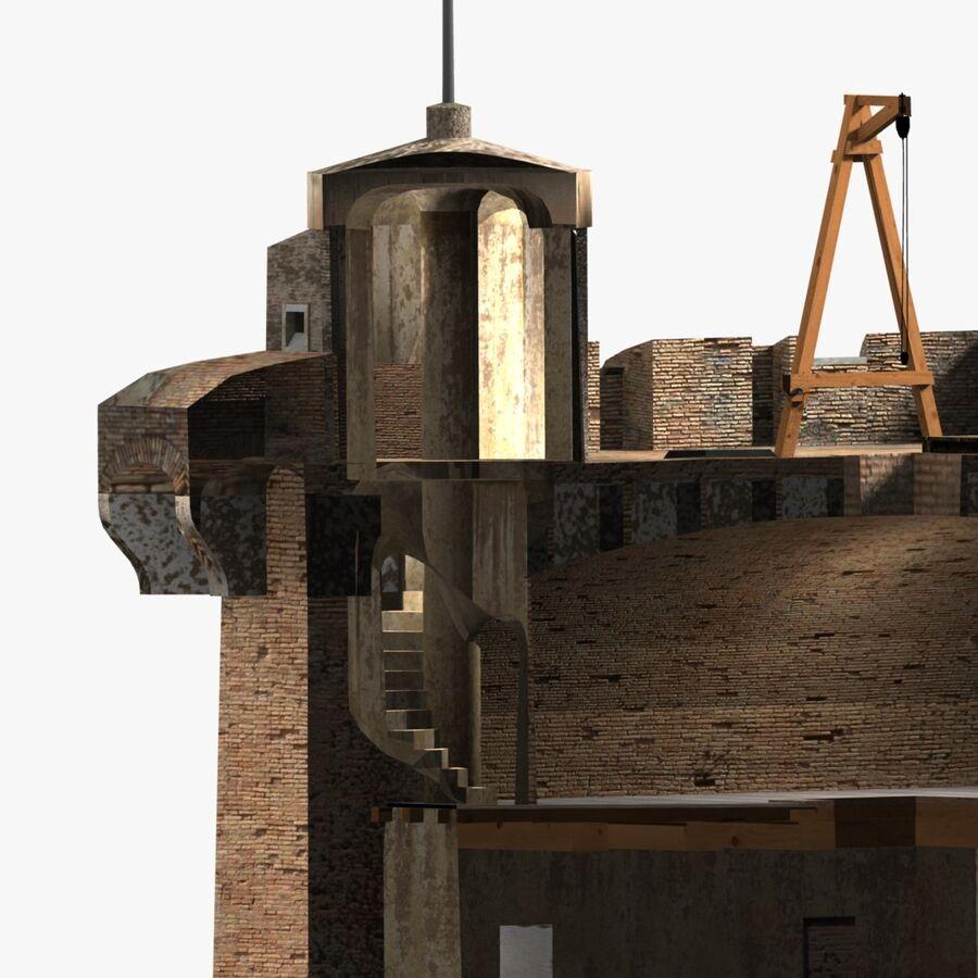 Średniowieczna wieża XV wieku royalty-free 3d model - Preview no. 20