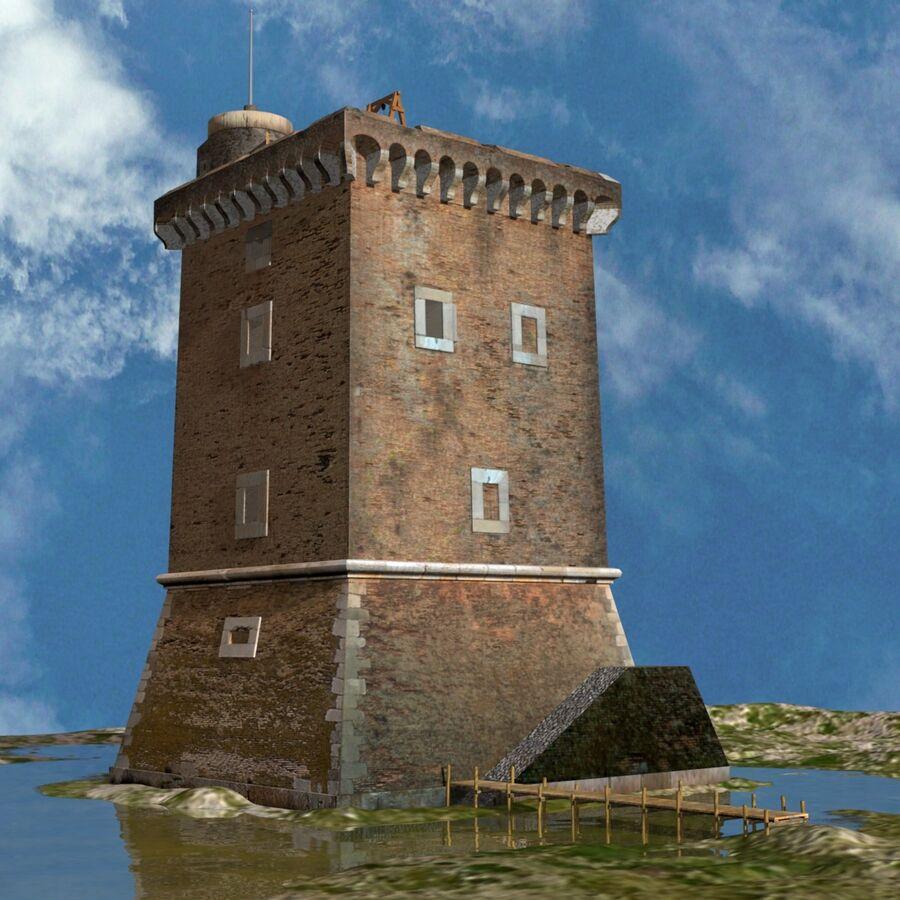 Średniowieczna wieża XV wieku royalty-free 3d model - Preview no. 2