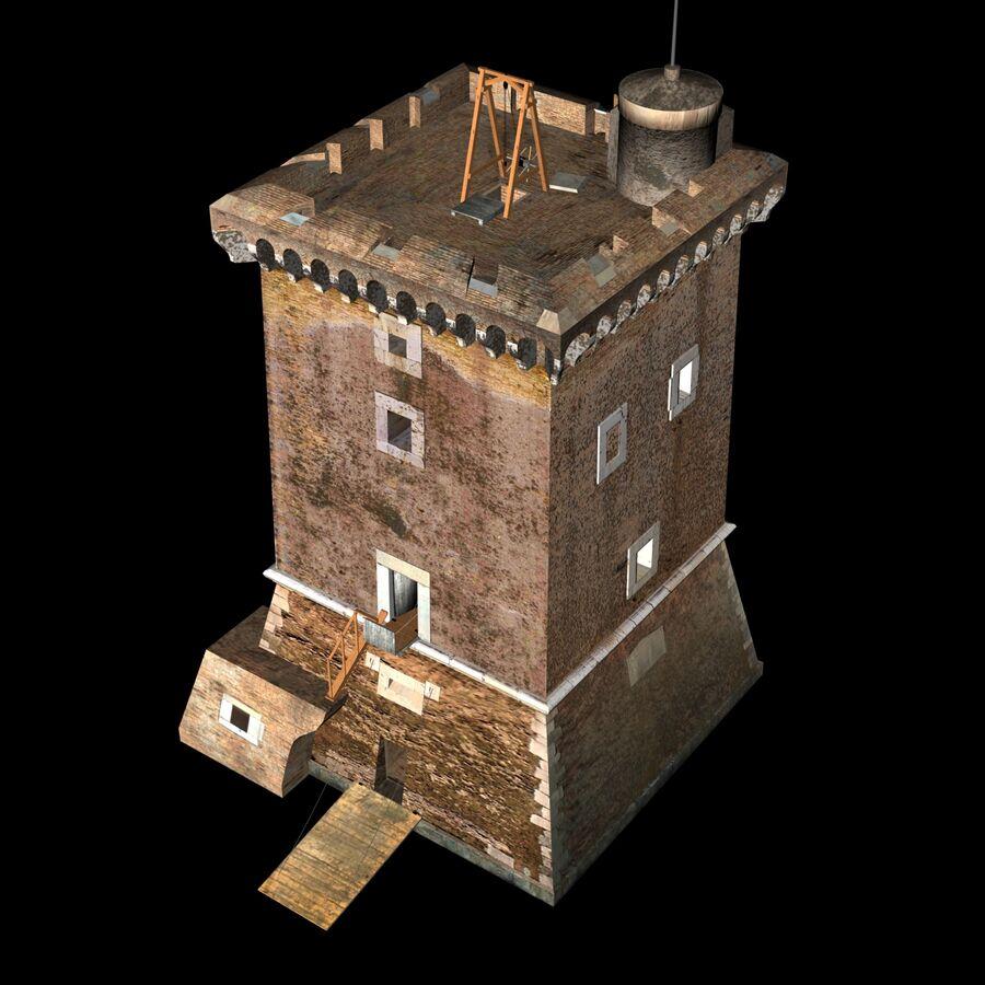 Średniowieczna wieża XV wieku royalty-free 3d model - Preview no. 9