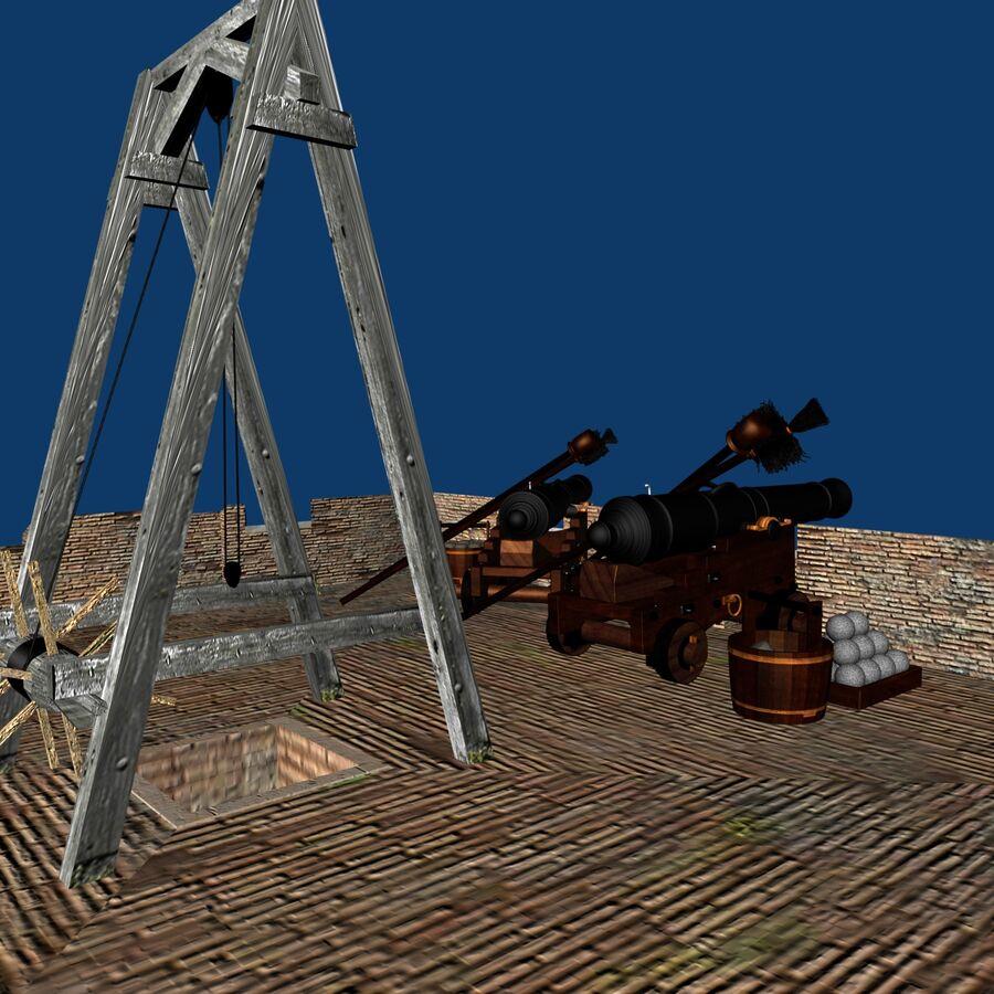 Średniowieczna wieża XV wieku royalty-free 3d model - Preview no. 7
