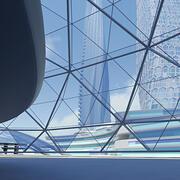 미래 도시 건물 3d model