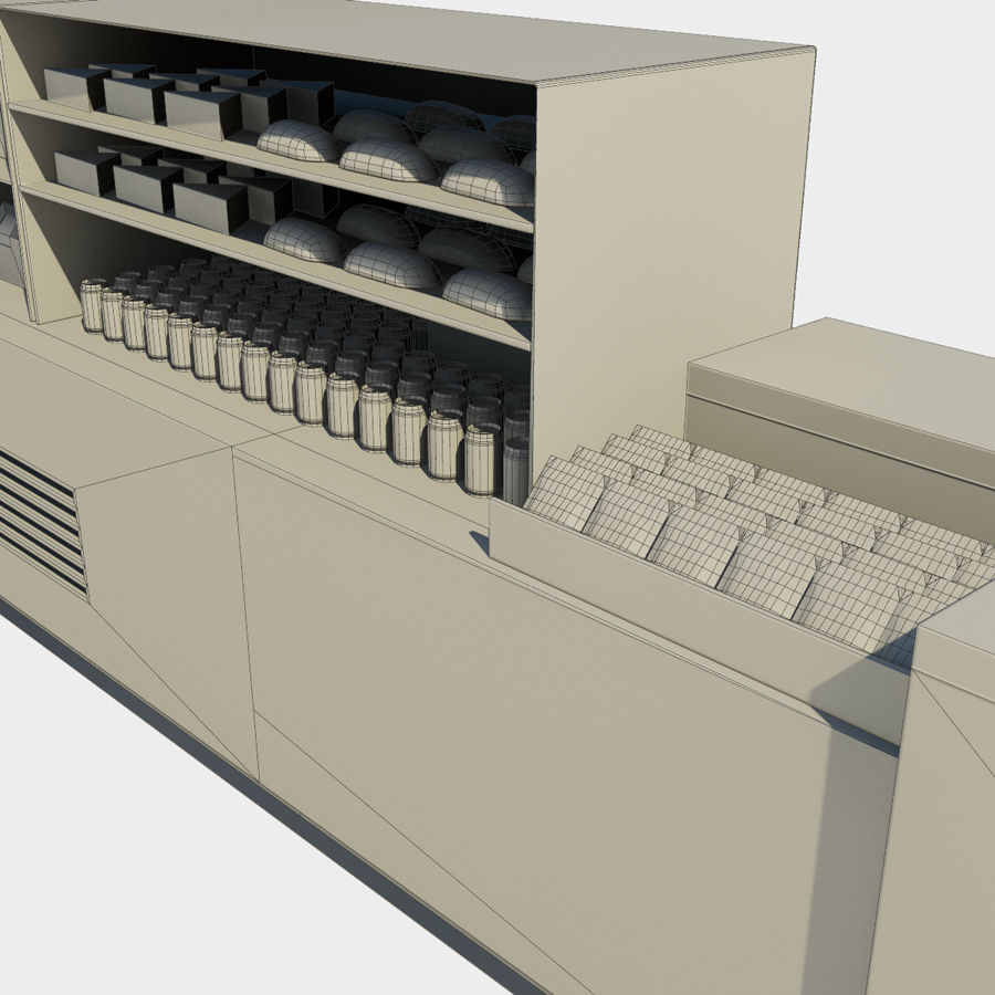 Banco alimentare royalty-free 3d model - Preview no. 5