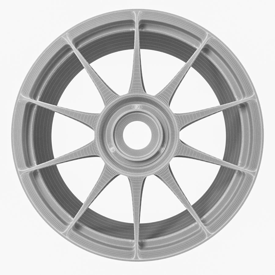 Rim OZ Racing Superforgiata CL royalty-free 3d model - Preview no. 7
