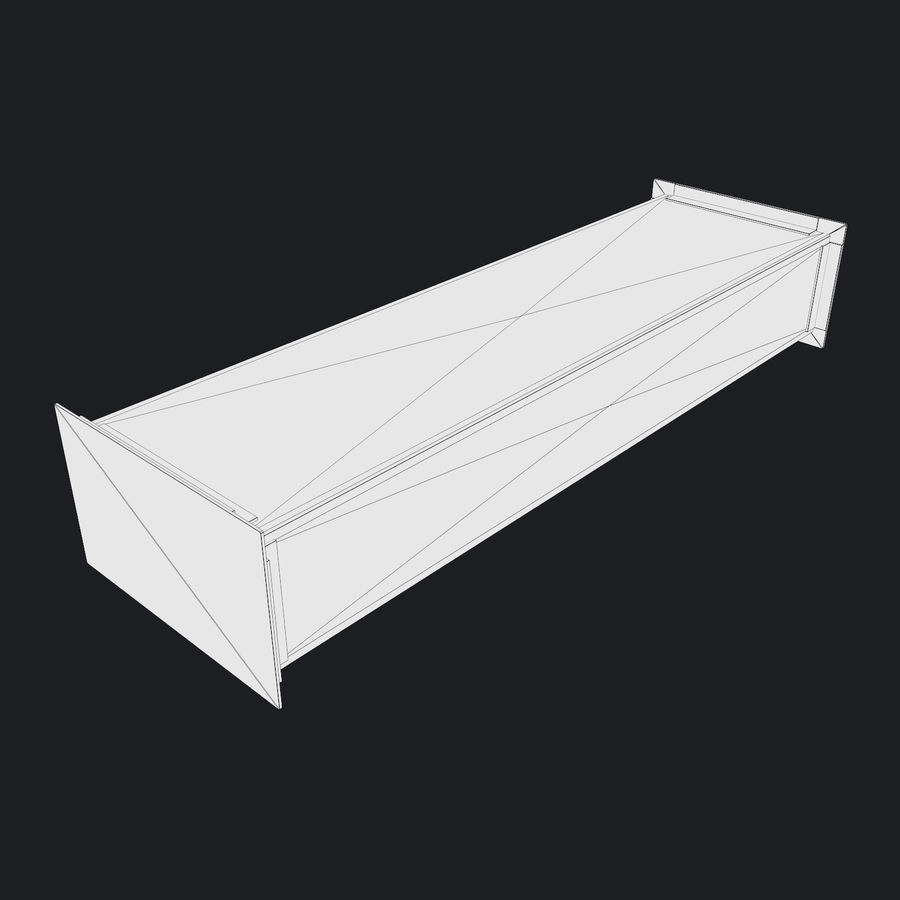 Vent Duct Set 02 royalty-free 3d model - Preview no. 15