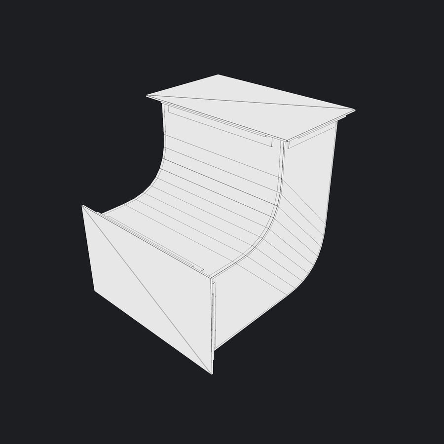 Vent Duct Set 02 royalty-free 3d model - Preview no. 14