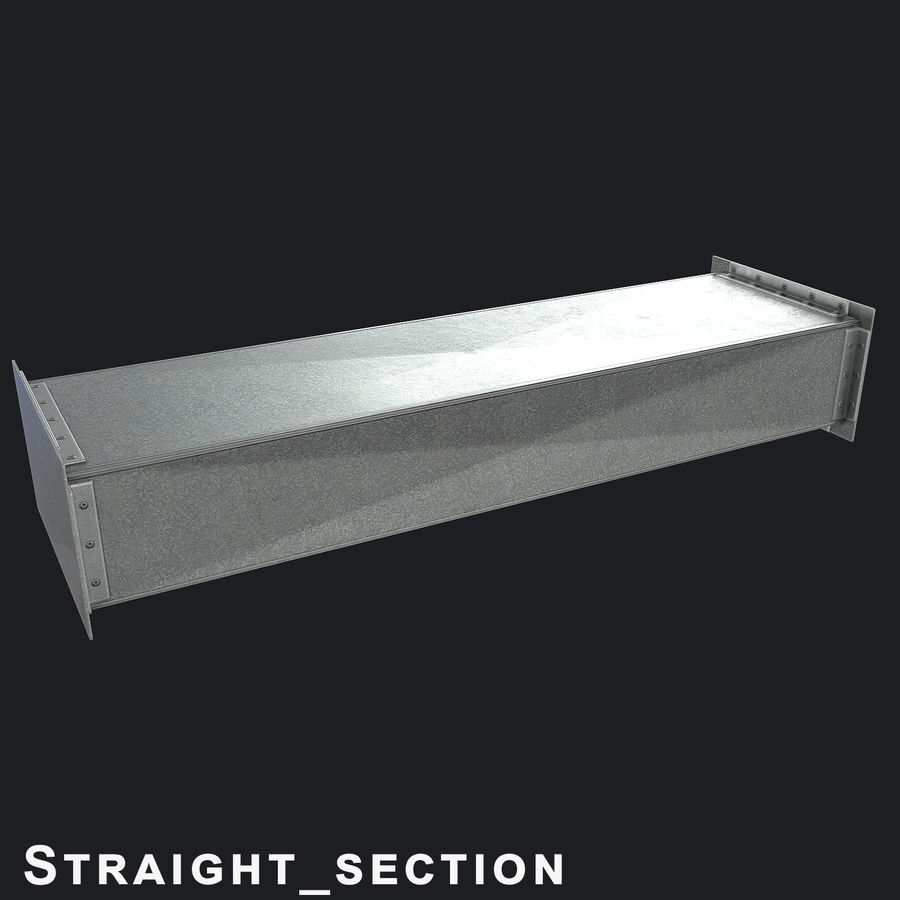 Vent Duct Set 02 royalty-free 3d model - Preview no. 8