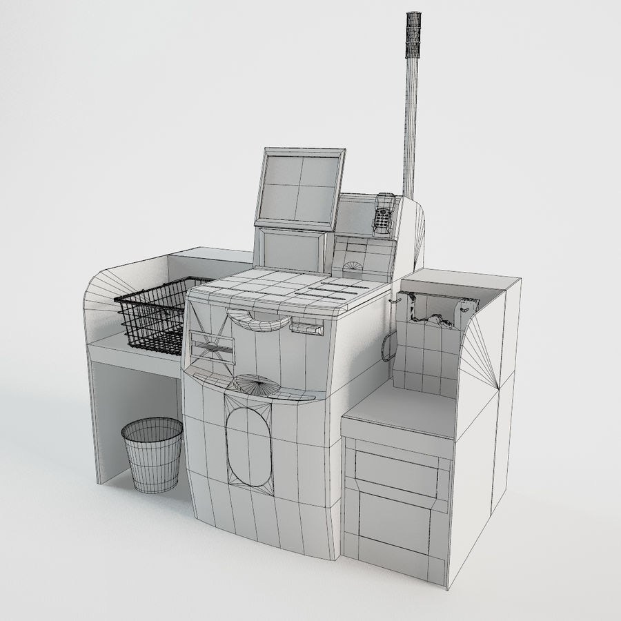 Self Checkout royalty-free 3d model - Preview no. 3