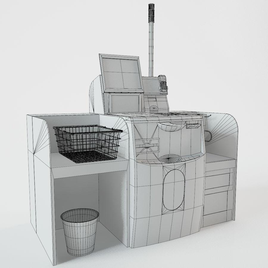 Self Checkout royalty-free 3d model - Preview no. 4