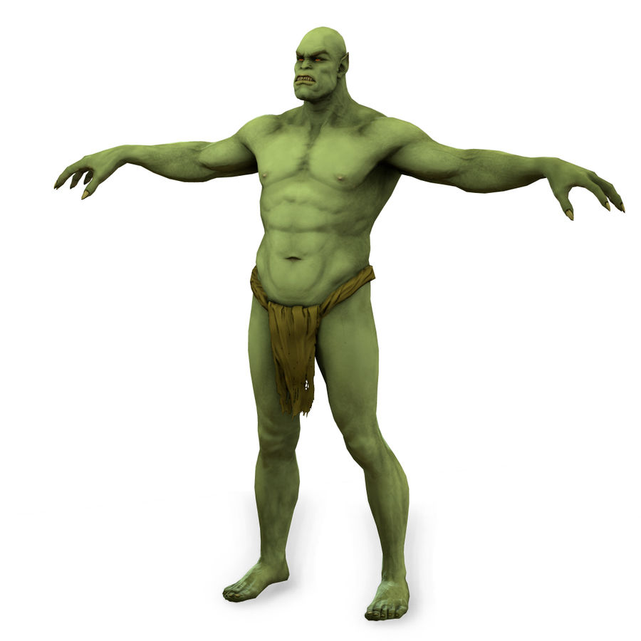 Low poly orc(1) royalty-free 3d model - Preview no. 5