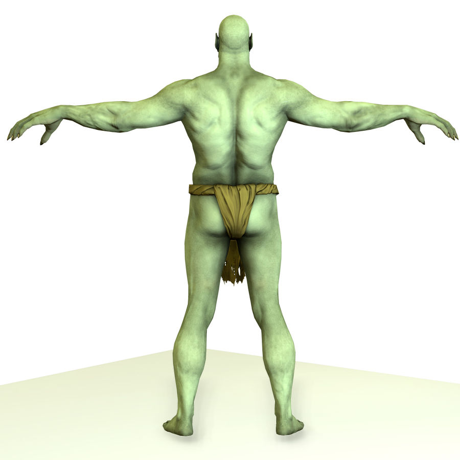 Low poly orc(1) royalty-free 3d model - Preview no. 8
