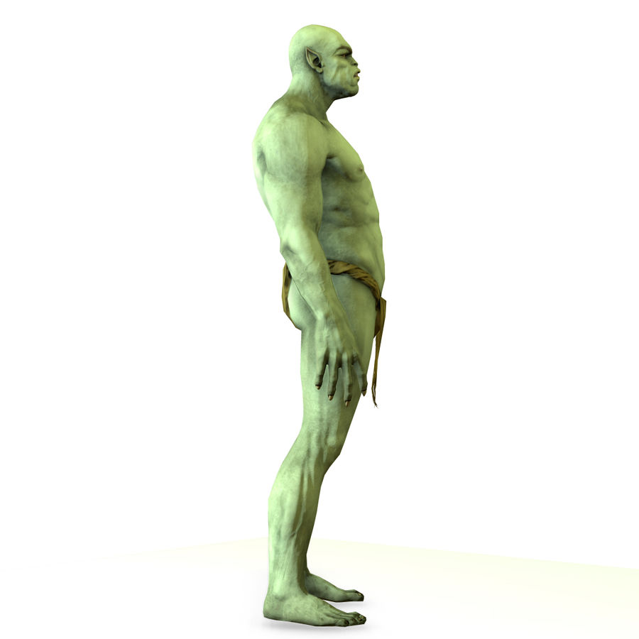 Low poly orc(1) royalty-free 3d model - Preview no. 13