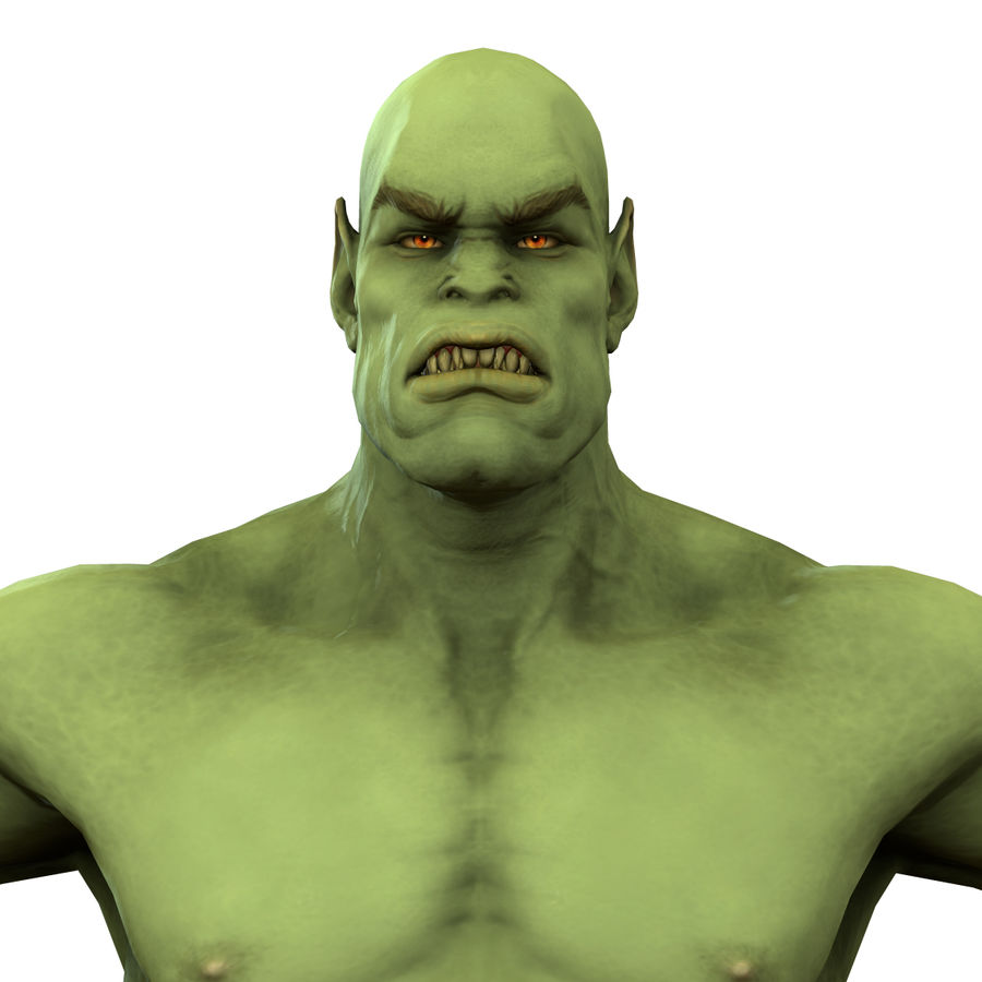 Low poly orc(1) royalty-free 3d model - Preview no. 3