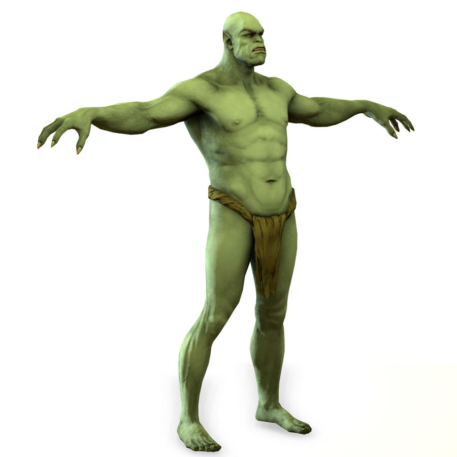 Low poly orc(1) royalty-free 3d model - Preview no. 9