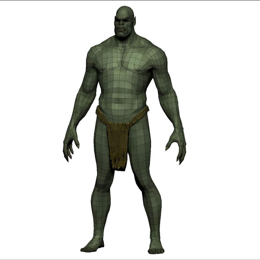 Low poly orc(1) royalty-free 3d model - Preview no. 18