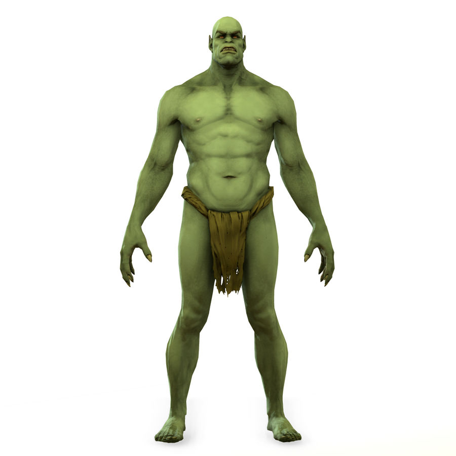 Low poly orc(1) royalty-free 3d model - Preview no. 14