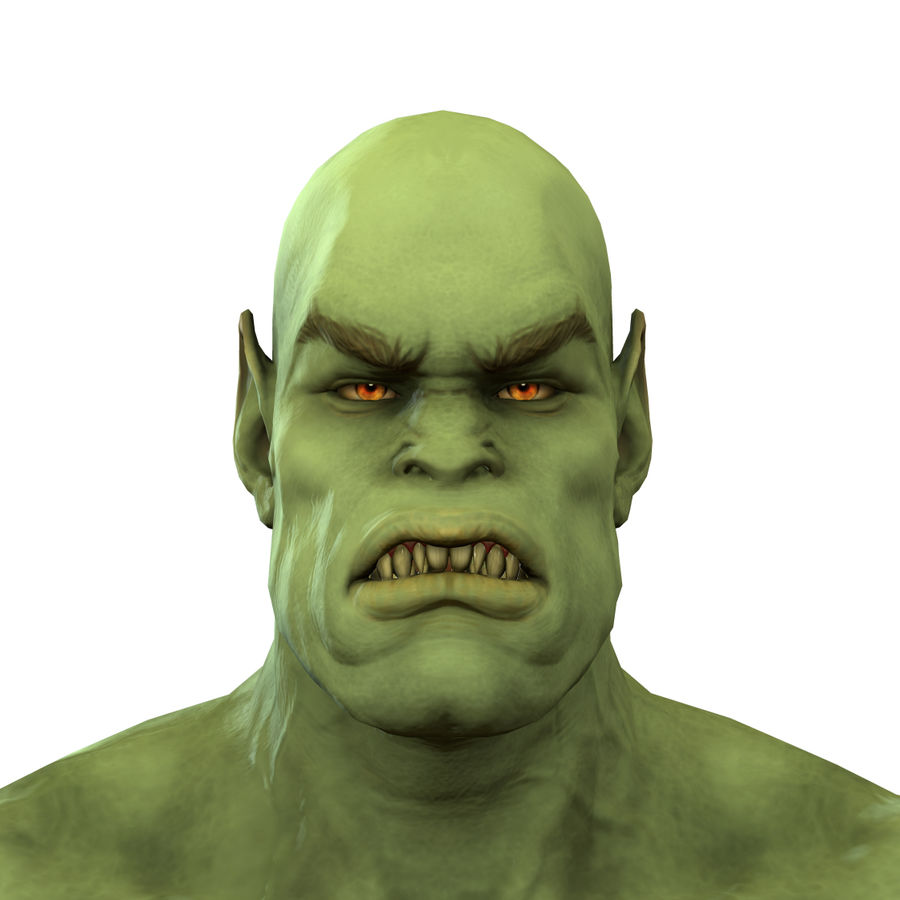 Low poly orc(1) royalty-free 3d model - Preview no. 2