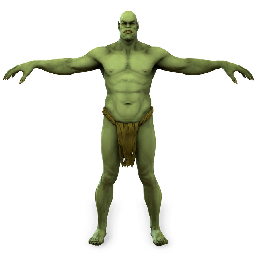 Low poly orc(1) royalty-free 3d model - Preview no. 4