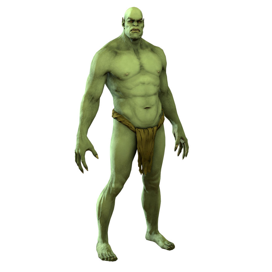 Low poly orc(1) royalty-free 3d model - Preview no. 1