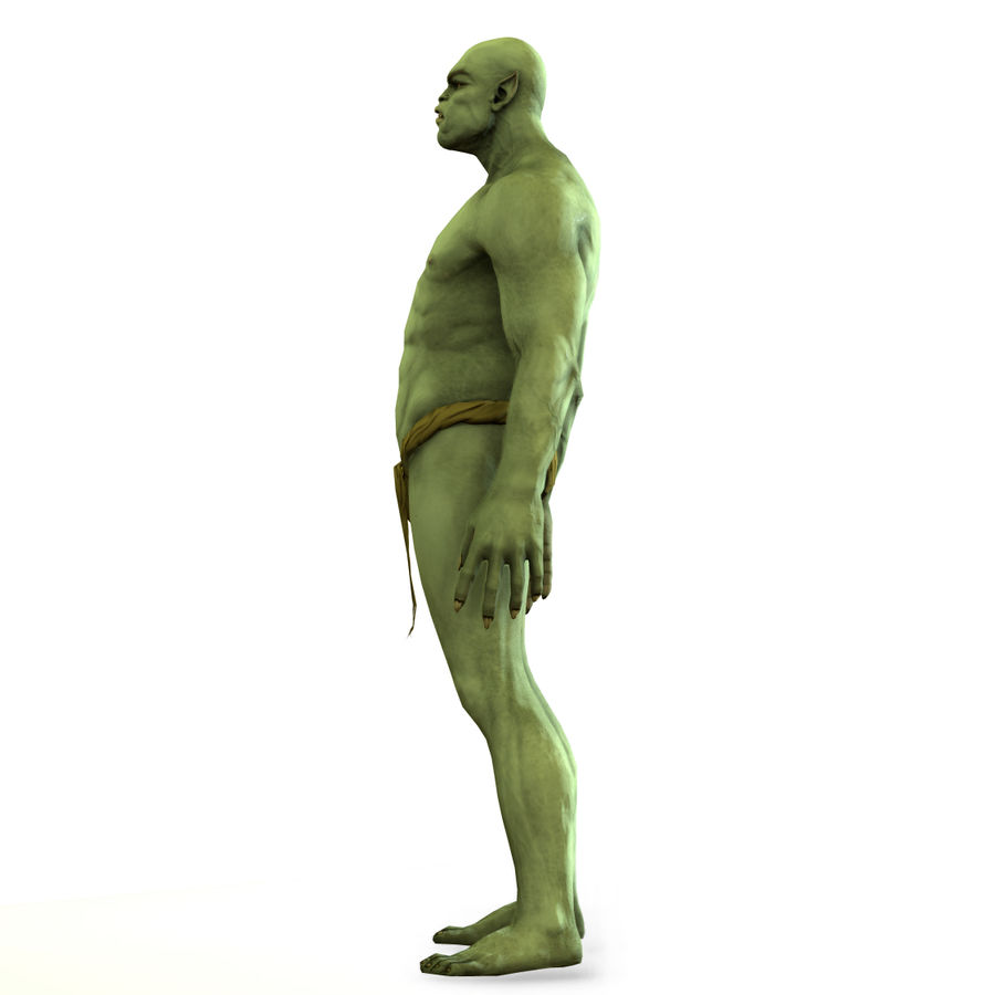 Low poly orc(1) royalty-free 3d model - Preview no. 15