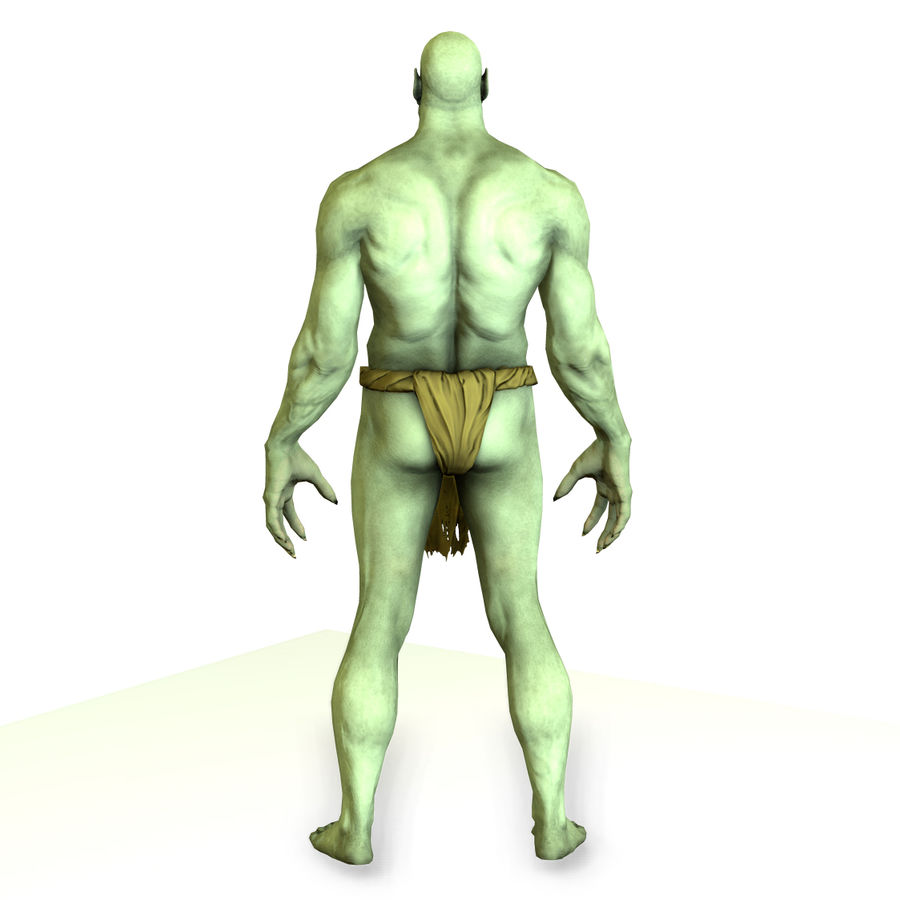Low poly orc(1) royalty-free 3d model - Preview no. 12