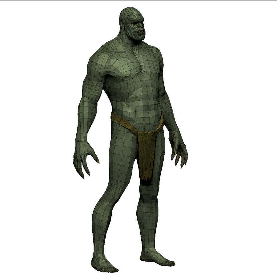 Low poly orc(1) royalty-free 3d model - Preview no. 19