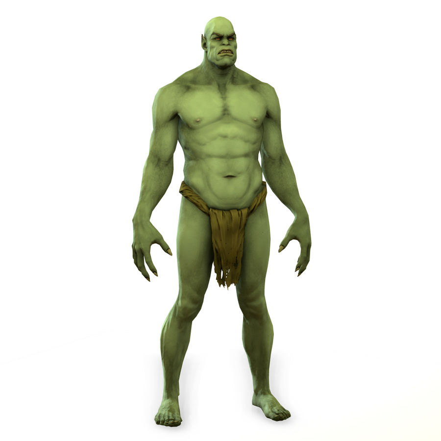 Low poly orc(1) royalty-free 3d model - Preview no. 11
