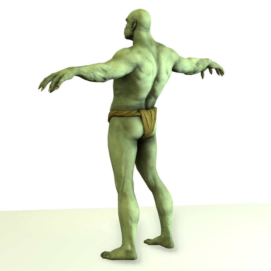 Low poly orc(1) royalty-free 3d model - Preview no. 7