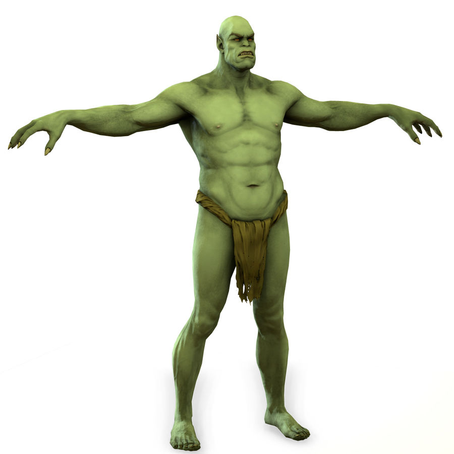Low poly orc(1) royalty-free 3d model - Preview no. 10