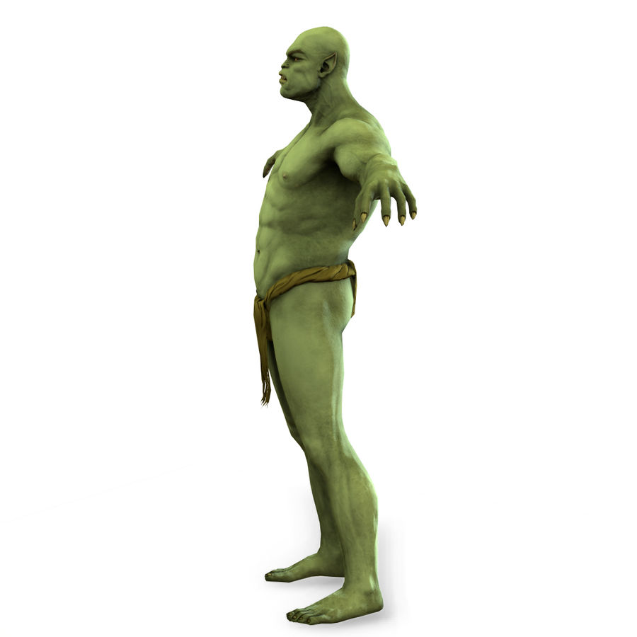 Low poly orc(1) royalty-free 3d model - Preview no. 6