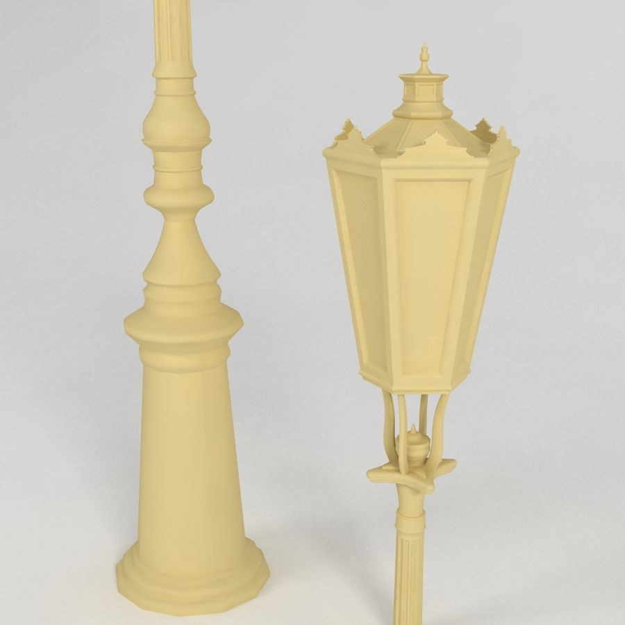 réverbère royalty-free 3d model - Preview no. 4