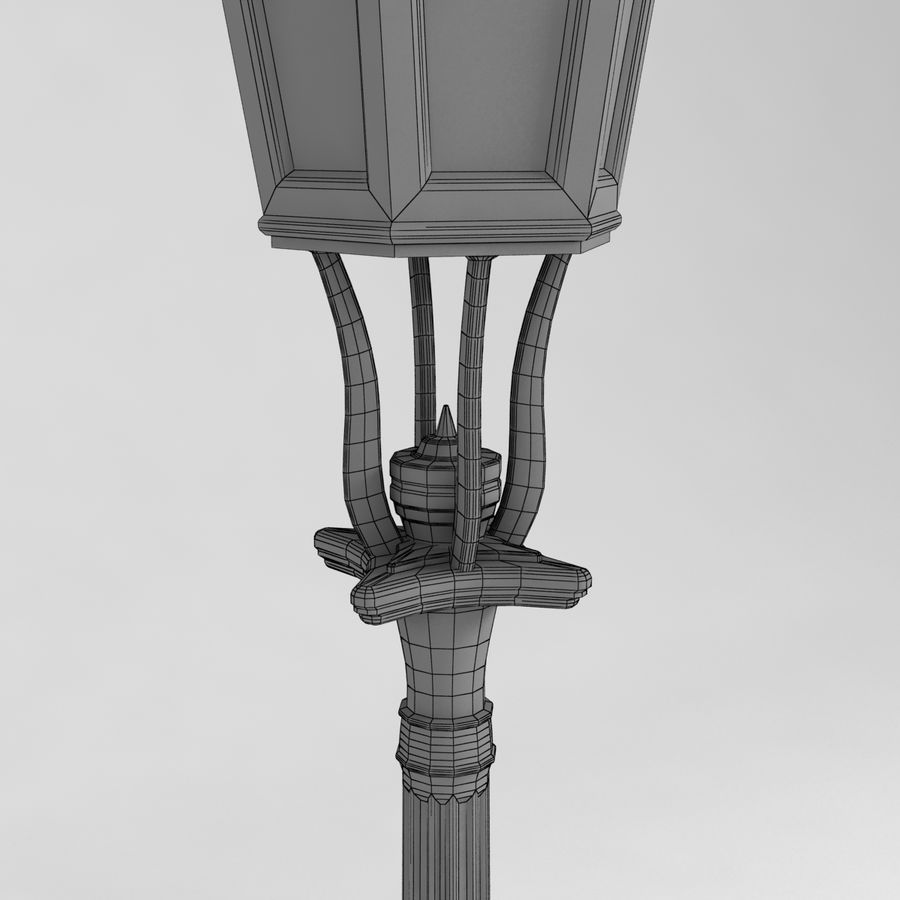 réverbère royalty-free 3d model - Preview no. 6