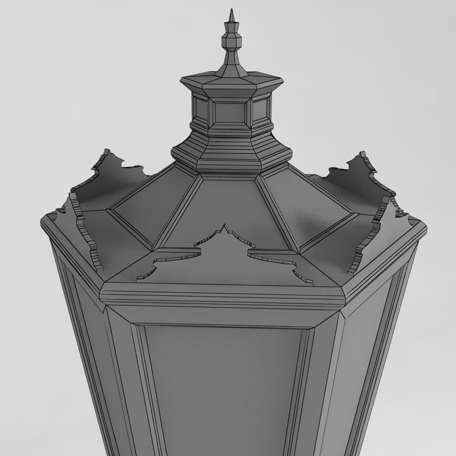 réverbère royalty-free 3d model - Preview no. 5