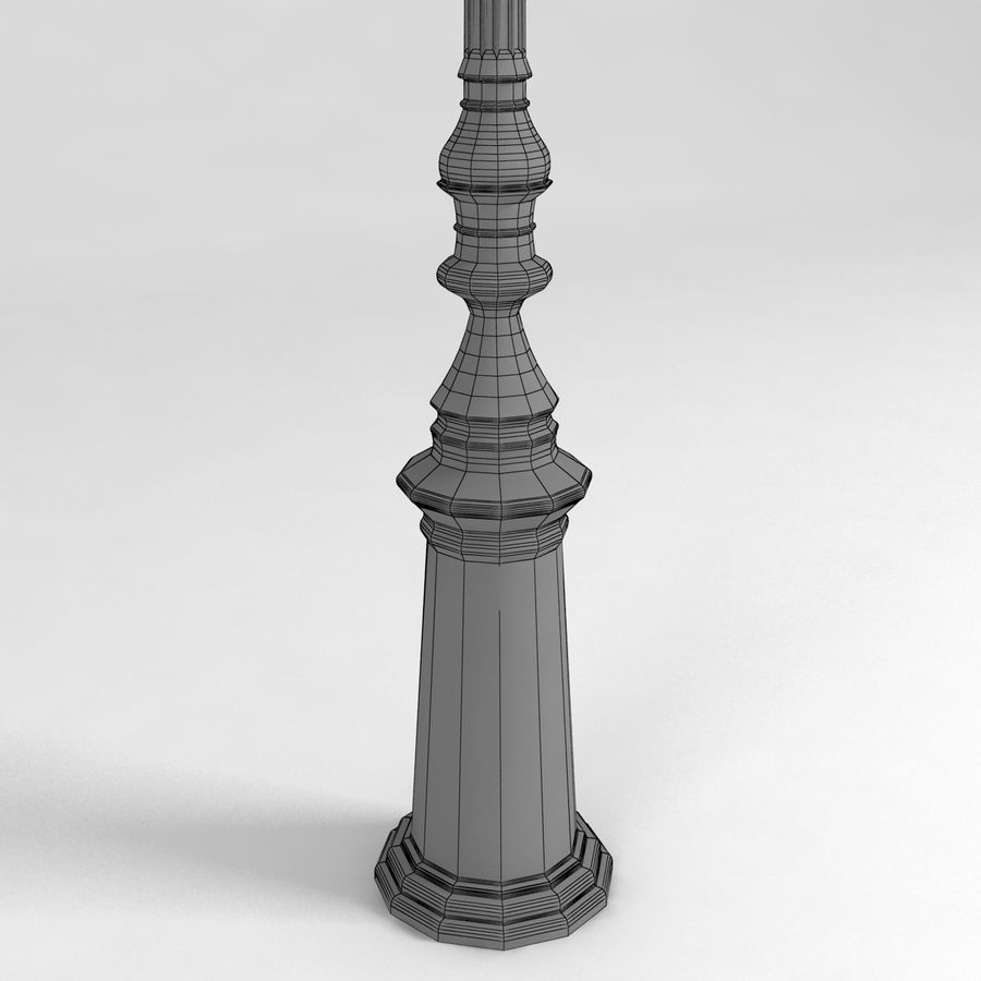 réverbère royalty-free 3d model - Preview no. 7