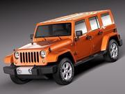 Джип Рэнглер Безлимитная Сахара 2013 3d model