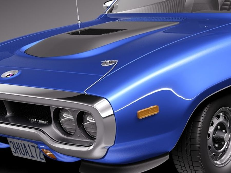 Plymouth Road Runner GTX 1971-1975 royalty-free 3d model - Preview no. 3